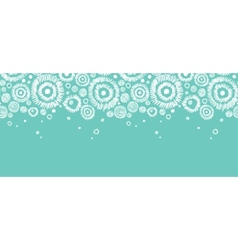 Abstract Snowflakes Horizontal Seamless Pattern vector image