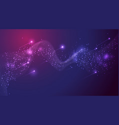 abstract wave mesh cluster scattering glitter vector image