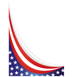 American abstract flag banner background vector