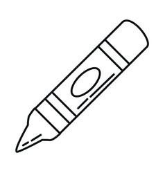 Back to school crayon color supply elementary vector