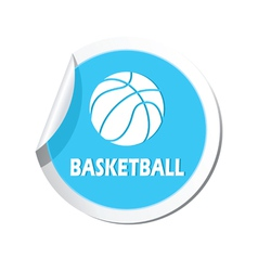 Basketball BLUE LABEL vector