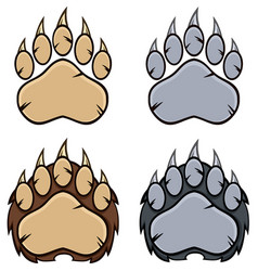 bear paw logo design collection - 4 vector image