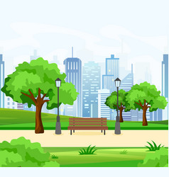 beautiful public city park vector image