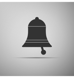 Bell icon on grey background Adobe vector