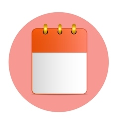 Blank sheet of desktop calendar in red color vector
