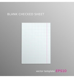 Blank squared paper sheet vector