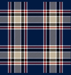 Blue red tartan plaid scottish pattern vector