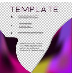 Brochure template layout design corporate vector