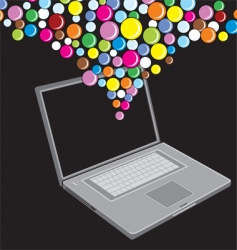 Bubble laptop vector