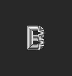 Capital letter b logo monogram mockup creative vector