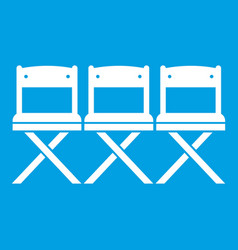 chairs icon white vector image