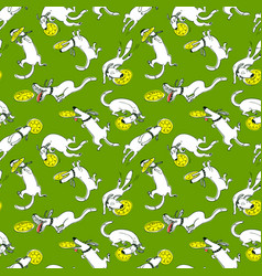 Cute activuty dogs seamless pattern doodle vector