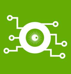 cyber eye symbol icon green vector image