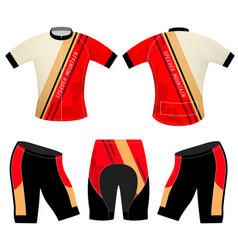 Cycling vest speeder mountain vector