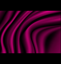 Dark pink fabric satin wave background texture vector