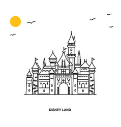 Disney land monument world travel natural vector