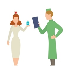 Doctor people man and woman vector