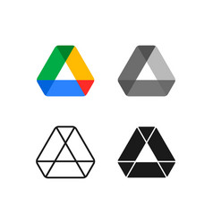 drive new logo with various style options vector image