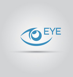 eye isolated abstract icon vector image