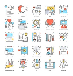 Flat Color Line Icons 13 vector