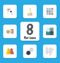 Flat icon games set of pawn people guess and vector