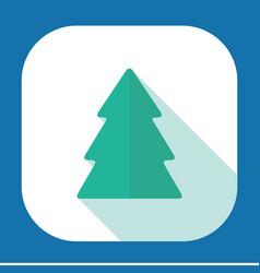 Flat modern design with shadow christmas tree vector