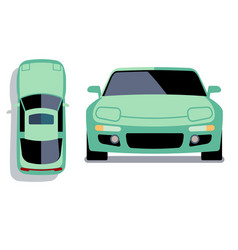 flat-style cars in different views vector image