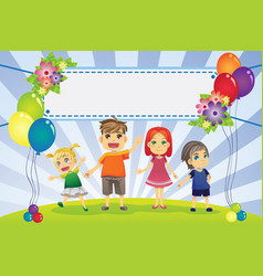 Fun family banner vector