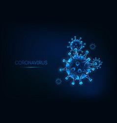futuristic coronavirus web banner template vector image