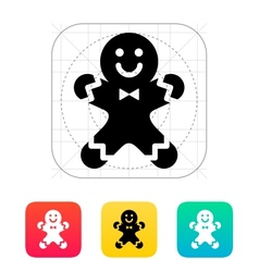 Gingerbread man icon vector