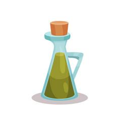Glass bottle of vinegar on a vector