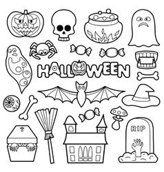 Halloween Patches Set vector