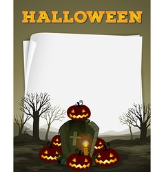 Halloween theme with graveyard vector image