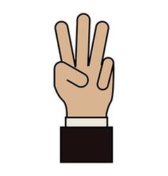 Hand gesture design vector