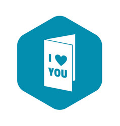 Happy valentines day or weeding card icon vector