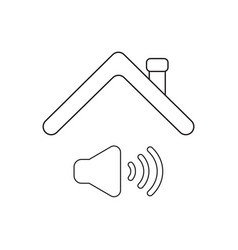 Icon concept sound on symbol under roof vector