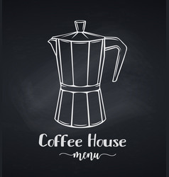Italian coffee make vector