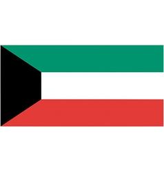 kuwaiti flag vector image vector image