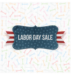 Labor Day Sale national Label vector image