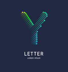 Letter y latin alphabet display vector