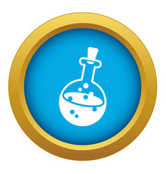 magic potion icon blue isolated vector image