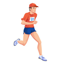 man running color vector image vector image