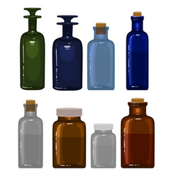 medicine bottles vector image
