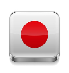 Metal icon of Japan vector image