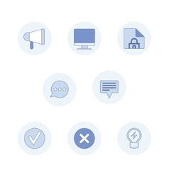 Modern pictogram collection concept vector