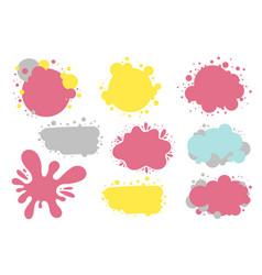 paint splashes colorful speech bubbles vector image