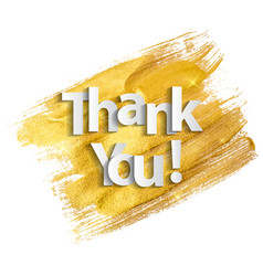 paper art of thank you lettering backgroun vector image