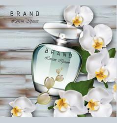 perfume bottle realistic mock up delicate vector image