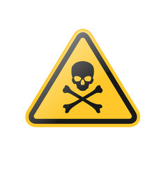 Poison danger warning sign vector