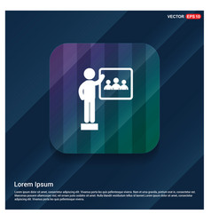 Presentation on business growth icon vector